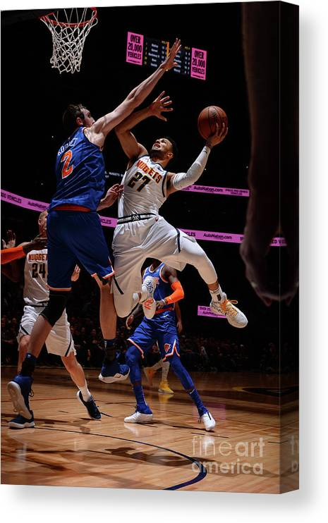 Nba Pro Basketball Canvas Print featuring the photograph Jamal Murray by Bart Young