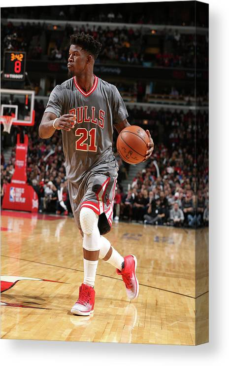 Nba Pro Basketball Canvas Print featuring the photograph Jimmy Butler by David Sherman