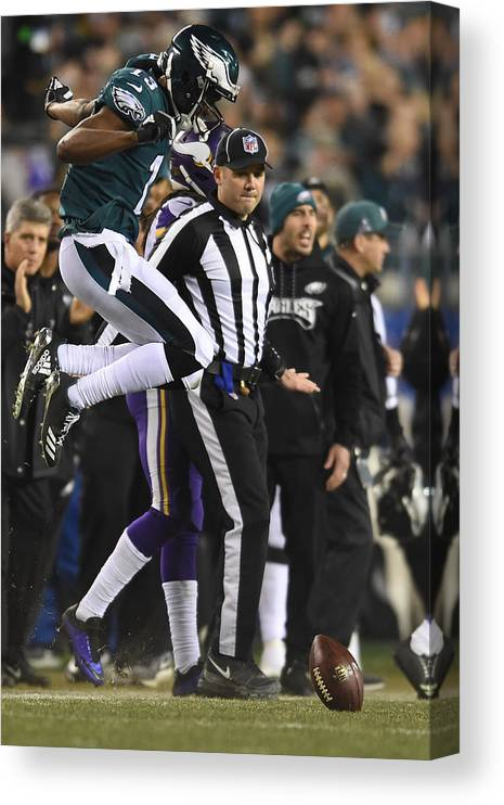 Playoffs Canvas Print featuring the photograph NFL: JAN 21 NFC Championship Game - Vikings at Eagles by Icon Sportswire