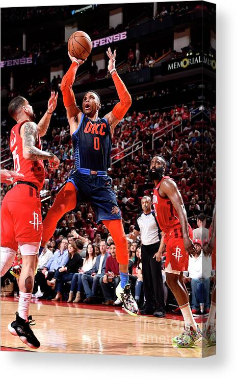 Nba Pro Basketball Canvas Print featuring the photograph Russell Westbrook by Bill Baptist