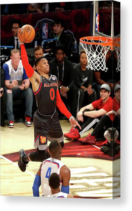 Event Canvas Print featuring the photograph Russell Westbrook by Layne Murdoch