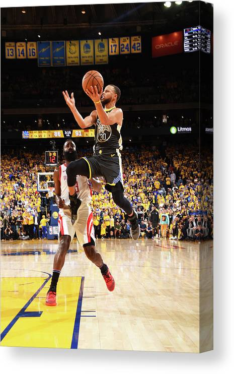 Toddler Canvas Print featuring the photograph Stephen Curry by Andrew D. Bernstein