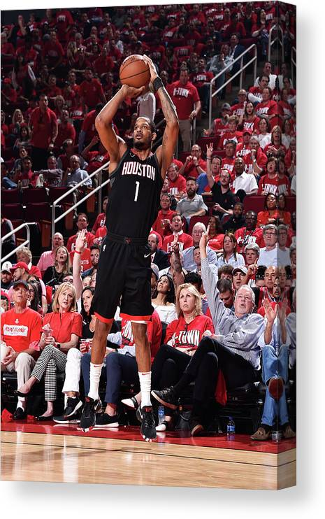 Playoffs Canvas Print featuring the photograph Trevor Ariza by Bill Baptist