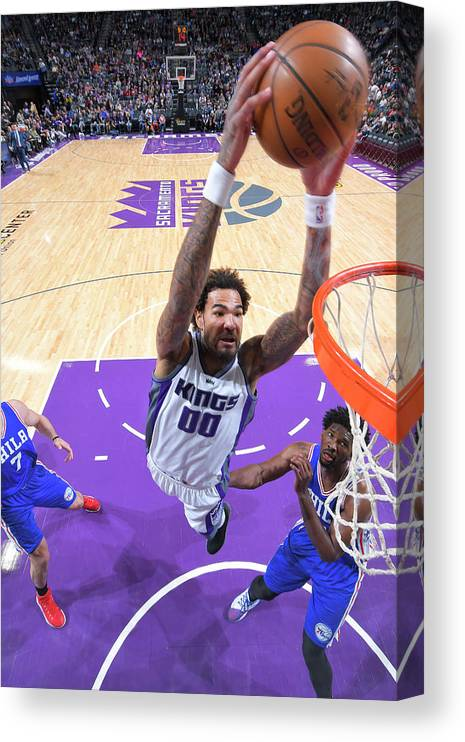 Nba Pro Basketball Canvas Print featuring the photograph Willie Cauley-stein by Rocky Widner