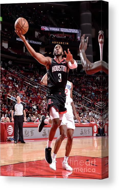 Nba Pro Basketball Canvas Print featuring the photograph Chris Paul by Bill Baptist