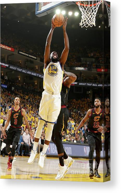 Playoffs Canvas Print featuring the photograph Draymond Green by Nathaniel S. Butler
