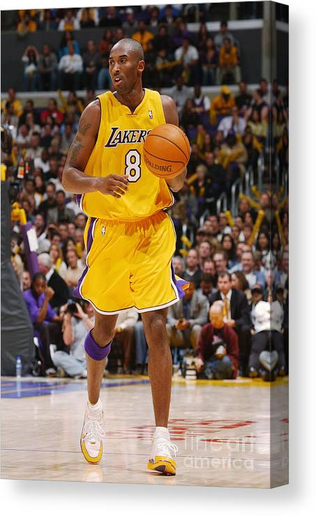 Upcourt Canvas Print featuring the photograph Kobe Bryant by Noah Graham