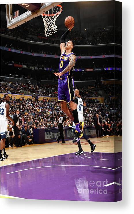 Nba Pro Basketball Canvas Print featuring the photograph Kyle Kuzma by Andrew D. Bernstein