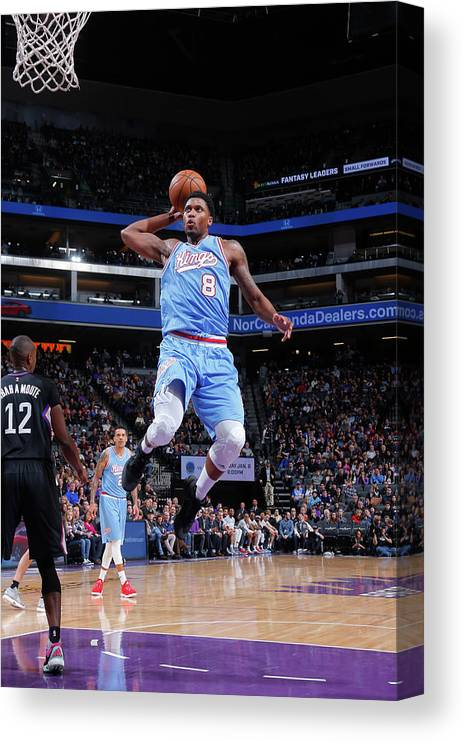 Nba Pro Basketball Canvas Print featuring the photograph Rudy Gay by Rocky Widner