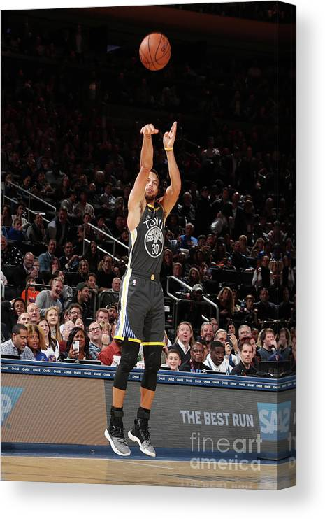 Nba Pro Basketball Canvas Print featuring the photograph Stephen Curry by Nathaniel S. Butler