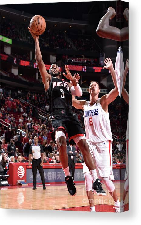 Nba Pro Basketball Canvas Print featuring the photograph Chris Paul by Bill Baptist