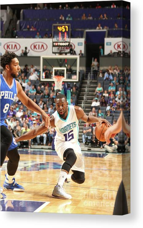 Sport Canvas Print featuring the photograph Kemba Walker by Kent Smith
