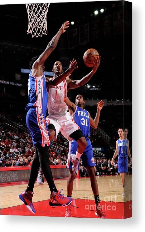 Nba Pro Basketball Canvas Print featuring the photograph Trevor Ariza by Bill Baptist