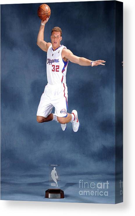 Nba Pro Basketball Canvas Print featuring the photograph Blake Griffin by Andrew D. Bernstein
