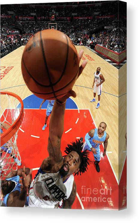 Nba Pro Basketball Canvas Print featuring the photograph Deandre Jordan by Andrew D. Bernstein
