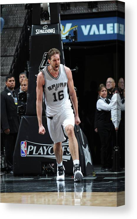 Game Two Canvas Print featuring the photograph Pau Gasol by Mark Sobhani