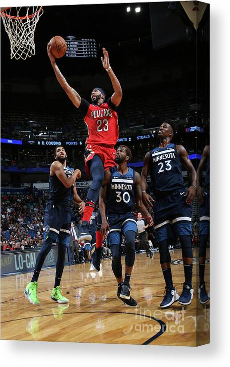 Smoothie King Center Canvas Print featuring the photograph Anthony Davis by Layne Murdoch Jr.