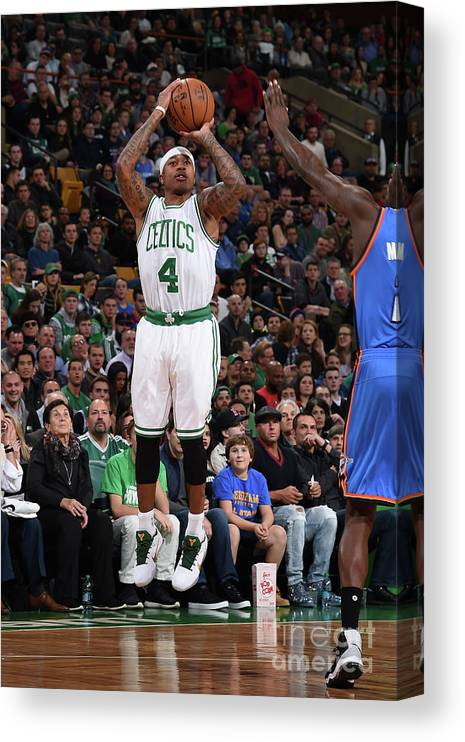 Nba Pro Basketball Canvas Print featuring the photograph Isaiah Thomas by Brian Babineau