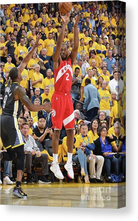 Playoffs Canvas Print featuring the photograph Kawhi Leonard by Andrew D. Bernstein