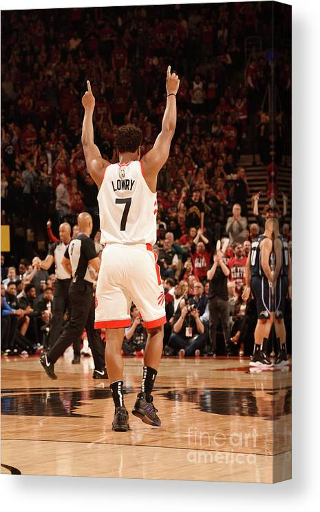 Playoffs Canvas Print featuring the photograph Kyle Lowry by Ron Turenne