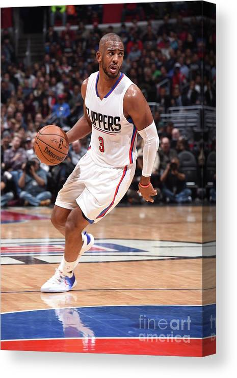 Nba Pro Basketball Canvas Print featuring the photograph Chris Paul by Andrew D. Bernstein