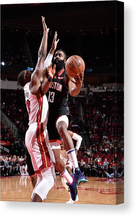 Nba Pro Basketball Canvas Print featuring the photograph James Harden by Bill Baptist