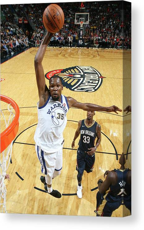 Smoothie King Center Canvas Print featuring the photograph Kevin Durant by Layne Murdoch