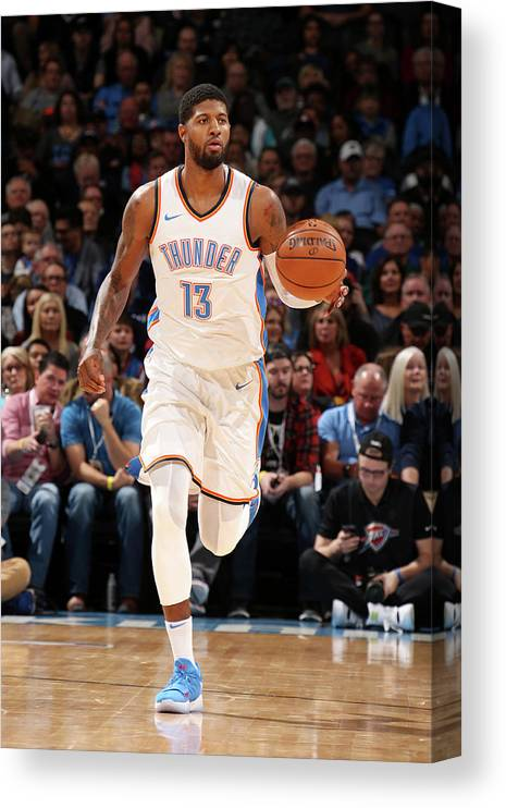 Nba Pro Basketball Canvas Print featuring the photograph Paul George by Layne Murdoch
