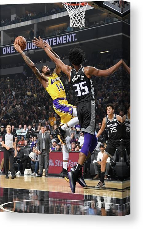 Nba Pro Basketball Canvas Print featuring the photograph Brandon Ingram by Andrew D. Bernstein
