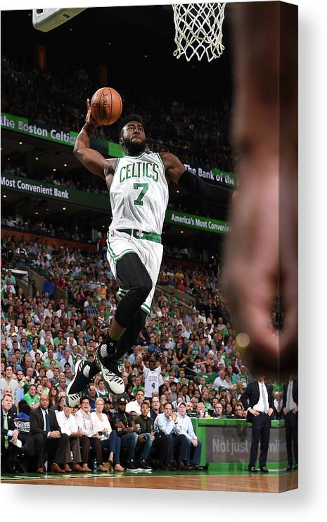 Playoffs Canvas Print featuring the photograph Jaylen Brown by Brian Babineau