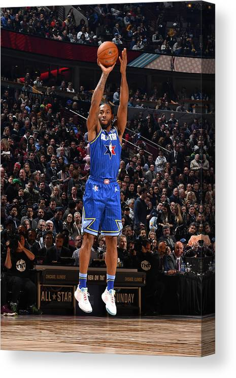Nba Pro Basketball Canvas Print featuring the photograph Kawhi Leonard by Jesse D. Garrabrant