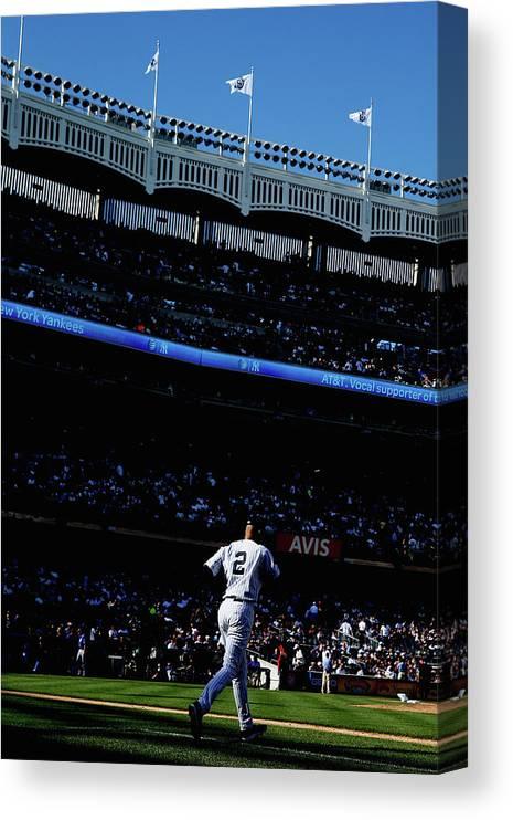 American League Baseball Canvas Print featuring the photograph Derek Jeter by Elsa