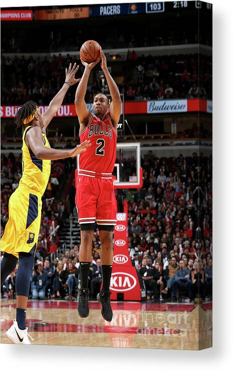Nba Pro Basketball Canvas Print featuring the photograph Jabari Parker by Gary Dineen