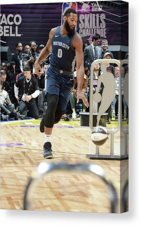 Event Canvas Print featuring the photograph Andre Drummond by Andrew D. Bernstein