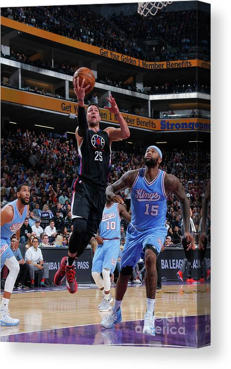 Nba Pro Basketball Canvas Print featuring the photograph Austin Rivers by Rocky Widner
