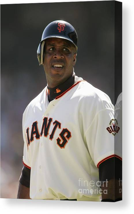San Francisco Canvas Print featuring the photograph Barry Bonds by Brad Mangin