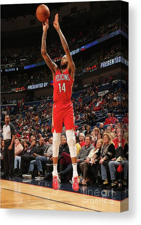 Smoothie King Center Canvas Print featuring the photograph Brandon Ingram by Layne Murdoch Jr.