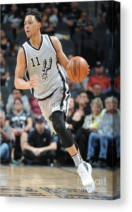 Nba Pro Basketball Canvas Print featuring the photograph Bryn Forbes by Mark Sobhani