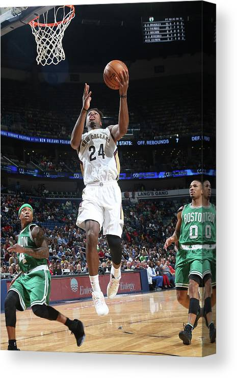 Smoothie King Center Canvas Print featuring the photograph Buddy Hield by Layne Murdoch