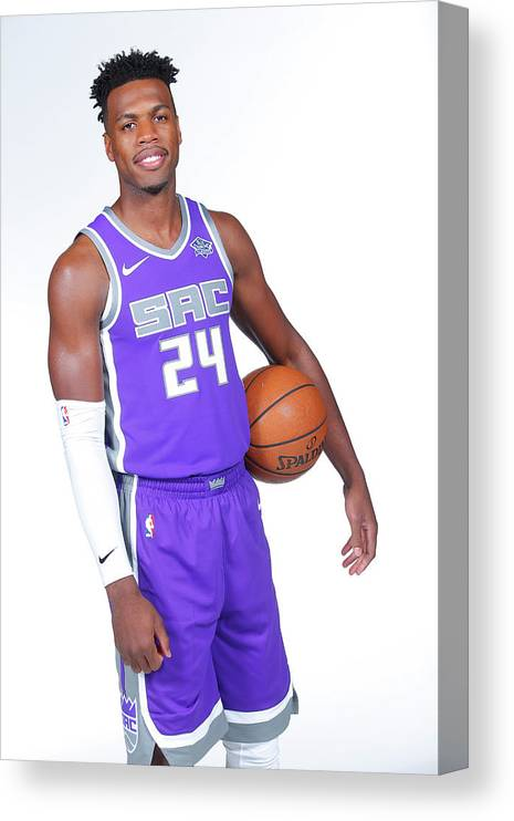 Media Day Canvas Print featuring the photograph Buddy Hield by Rocky Widner