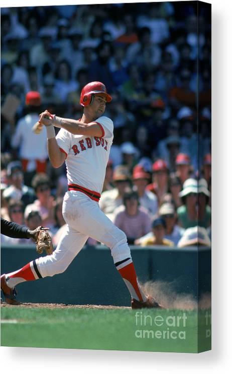 American League Baseball Canvas Print featuring the photograph Carl Yastrzemski by Rich Pilling