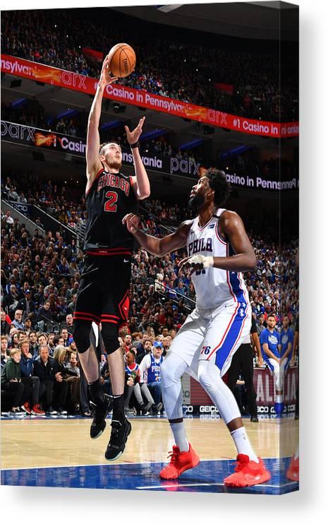 Nba Pro Basketball Canvas Print featuring the photograph Chicago Bulls v Philadelphia 76ers by Jesse D. Garrabrant