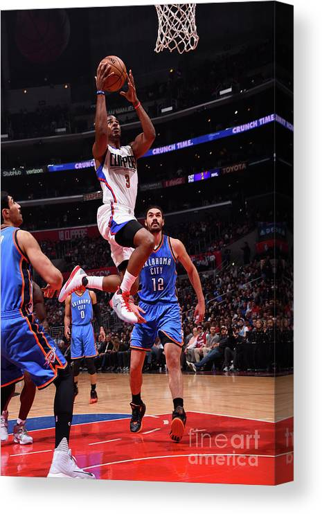 Nba Pro Basketball Canvas Print featuring the photograph Chris Paul by Juan Ocampo