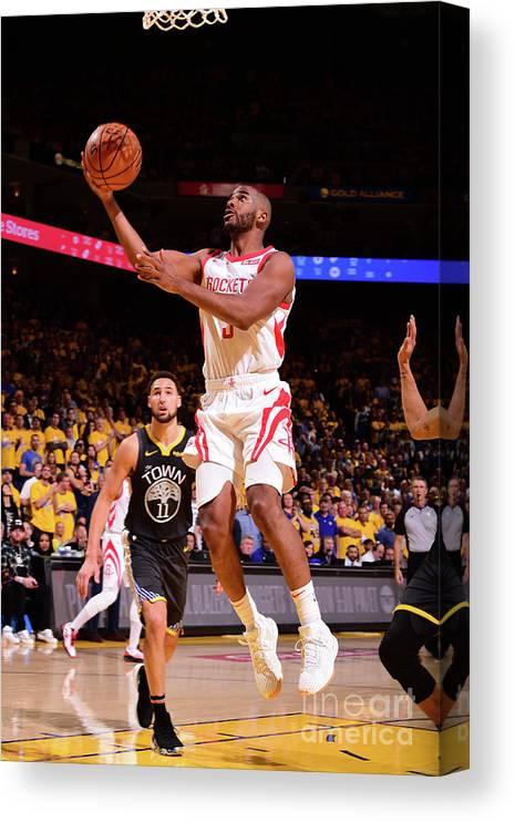 Playoffs Canvas Print featuring the photograph Chris Paul by Noah Graham