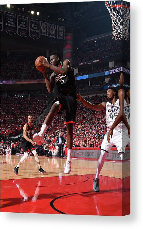Playoffs Canvas Print featuring the photograph Clint Capela by Andrew D. Bernstein