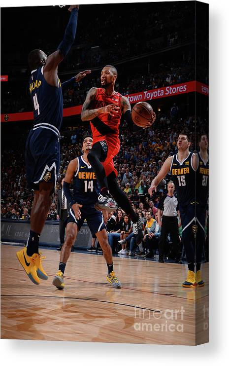 Playoffs Canvas Print featuring the photograph Damian Lillard by Bart Young