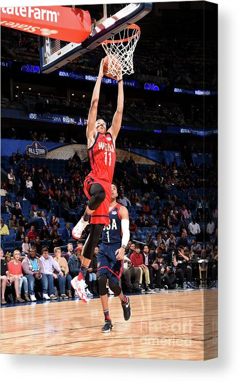 Event Canvas Print featuring the photograph Dante Exum by Andrew D. Bernstein