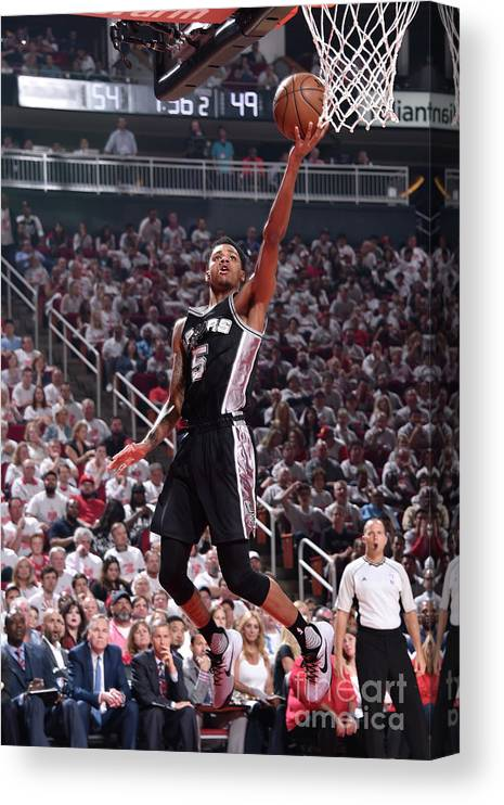 Playoffs Canvas Print featuring the photograph Dejounte Murray by Bill Baptist