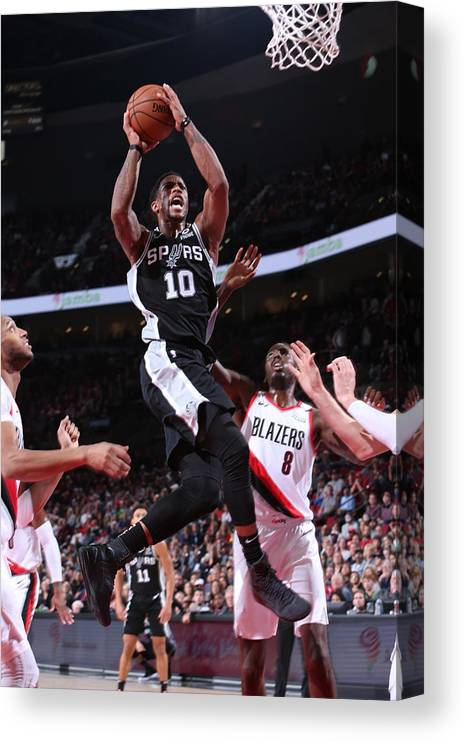 Nba Pro Basketball Canvas Print featuring the photograph Demar Derozan by Sam Forencich