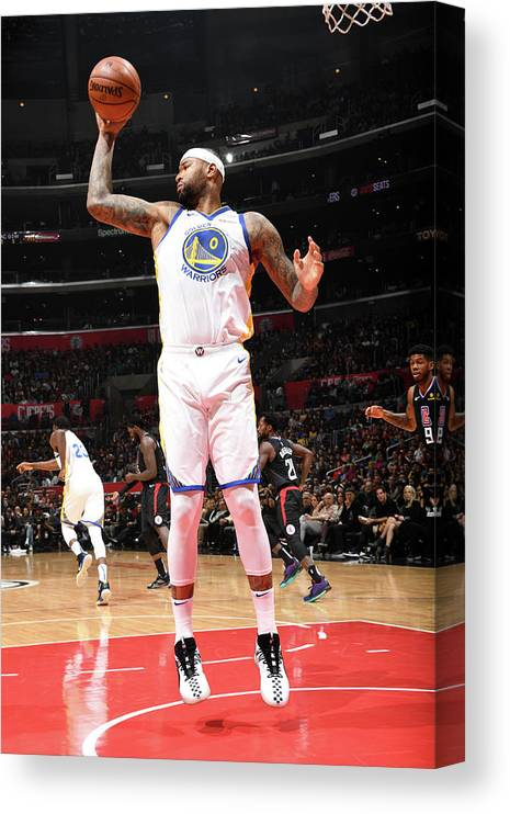 Nba Pro Basketball Canvas Print featuring the photograph Demarcus Cousins by Andrew D. Bernstein